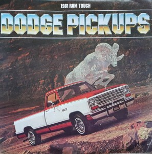 Dodge Pickup's - prospekt folder reklamowy