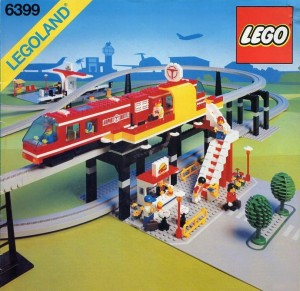 Lego 6399 Airport Shuttle Monorail Track